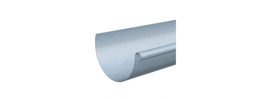 Gouttiere zinc demi ronde de 25
